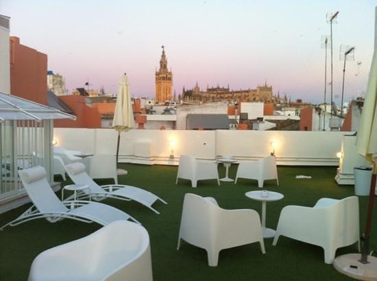 Terraza foto di suites sevilla plaza siviglia tripadvisor for Suites sevilla plaza