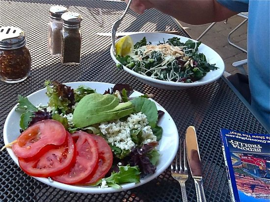 Picazzo's Organic Italian Kitchen: fresh unique, healthy salads (Heart Healthy Gourmet and Chopped Kale)