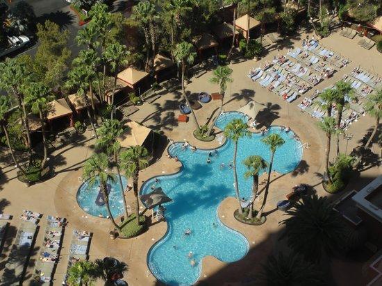 View Of Ti Pool From Room 23010 Picture Of Treasure Island Ti Hotel Casino A Radisson Hotel Las Vegas Tripadvisor