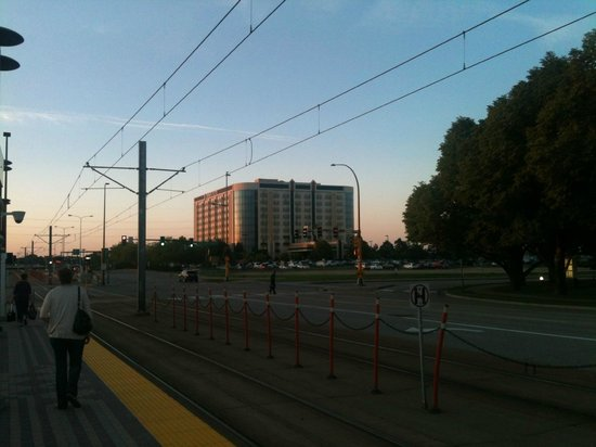 Embassy Suites by Hilton Minneapolis - Airport: View of the hotel from the rail stop