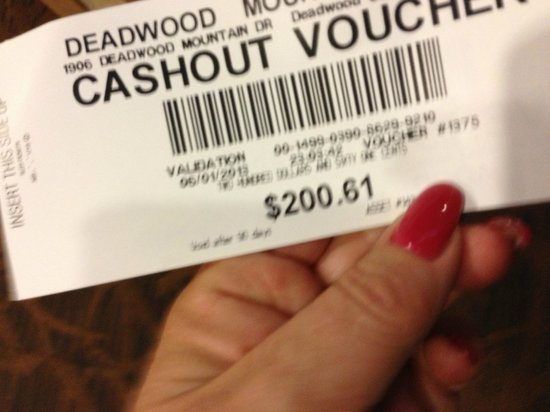 Deadwood Mountain Grand Hotel, a Holiday Inn Resort: slot ticket