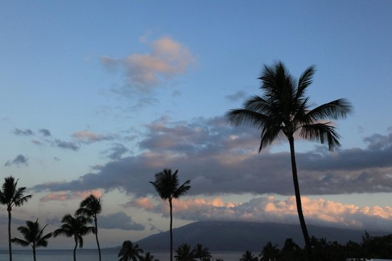 Kamaole Beach Royale Resort, ( #608): early morning view from the lanai of unit #304