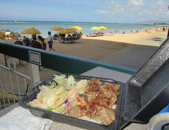 Steak Shack: Free view of the beach