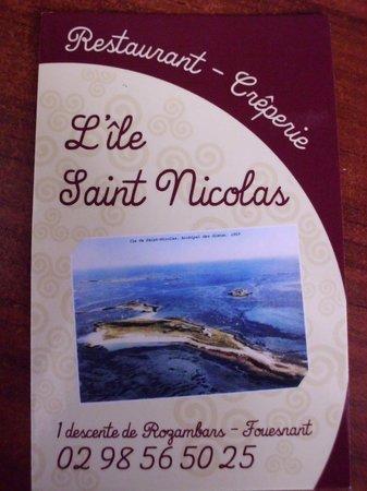 L'ile Saint Nicolas : La carte de visite