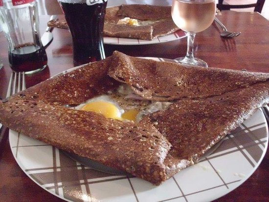 L'ile Saint Nicolas : Galette jambon-champignon-oeuf