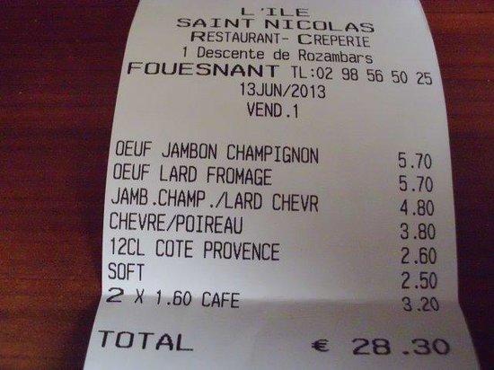 L'ile Saint Nicolas : L'addition