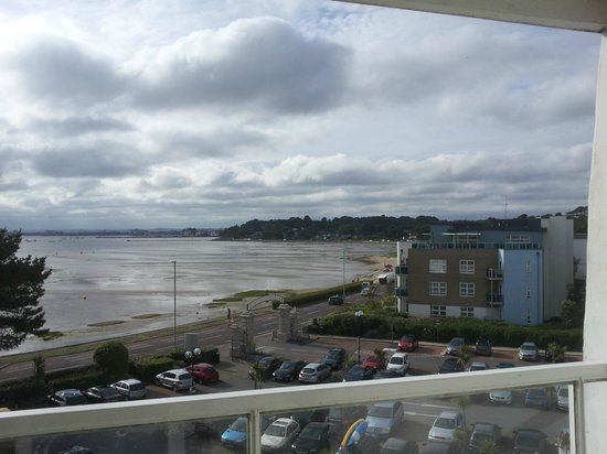 Sandbanks Hotel: Part of the view from balcony on harbourside