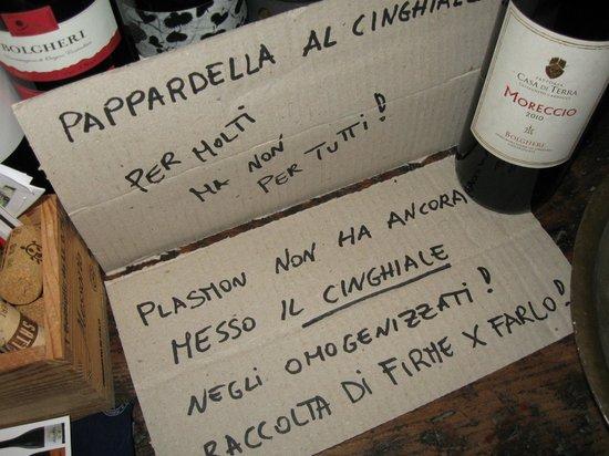 Bolgheri, İtalya: Il cinghiale s'è offeso !