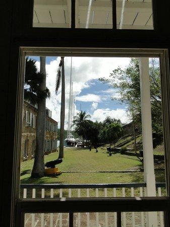 Nelson's Dockyard: Window snapshot from the Museum