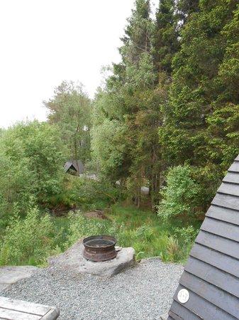 Strathfillan Wigwams: view from wigwam