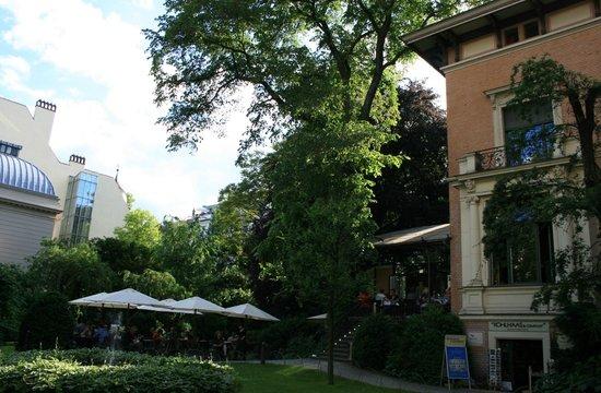 Café Wintergarten im Literaturhaus Berlin: La maison dans le jardin