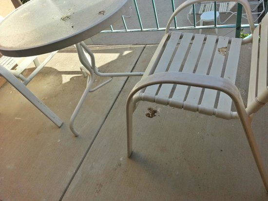 Quality Inn & Suites Airport North: Filthy Balcony. There's bird **** everywhere, ignored by staff during my whole stay (2 weeks!)