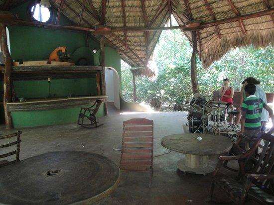 "Equilibrio Yoga Art Surf Resort: ""Hanglatorium"" aka the hang out spot"