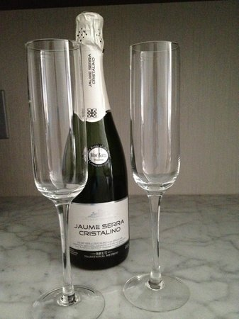 The Pearl Hotel: Complimentary champagne in our room for our anniversary!