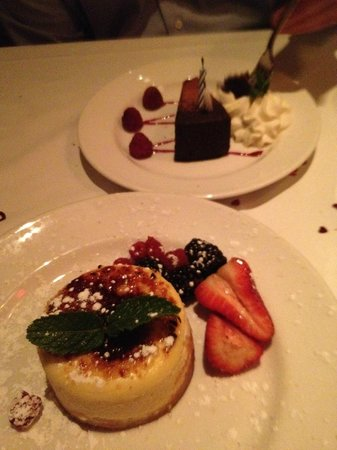 The Capital Grille : We ordered the cheesecake, and they gave us the other dessert for free!
