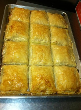 Greek Aroma: Fresh baked galactaboureko.