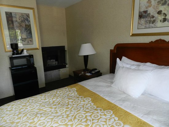 Days Inn Monterey-Fisherman's Wharf Aquarium: Fireplace and other amenities