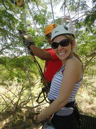 Huana Coa Canopy Adventure: Enjoying the ride!