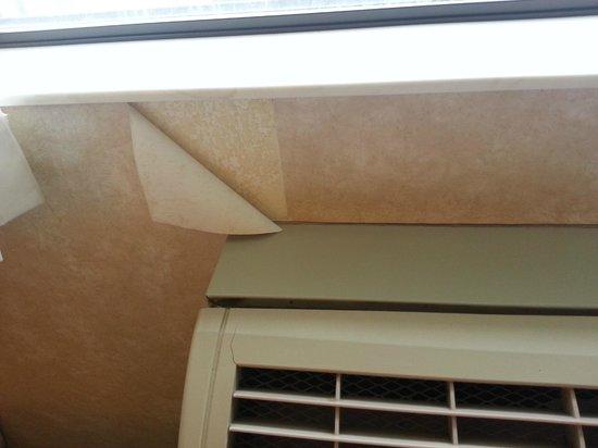 Quality Inn: torn wallpaper