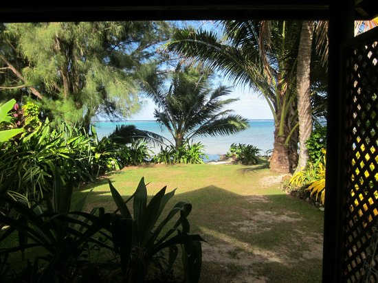 Muri Beach Resort: the restful view from our unit