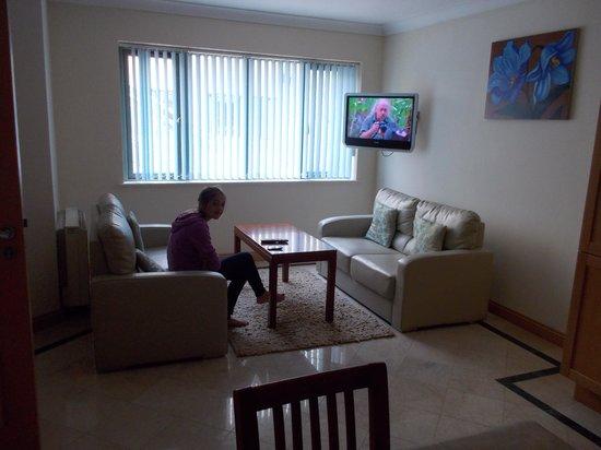 Park Place Apartments: Living room