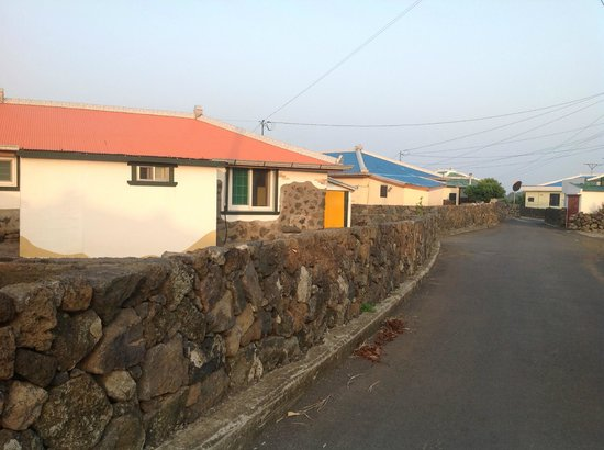 Jirissam Guesthouse: Street leading to the guesthouse