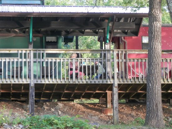 Caboose Junction Resort: deck connected to the caboose