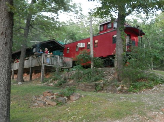 Caboose Junction Resort: caboose and deck