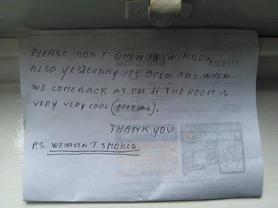 Mitre House Hotel: mia lettera di protesta