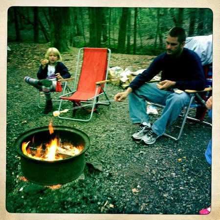 Rip Van Winkle Campgrounds: Roasting marshmallows and enjoying smores