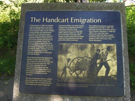 Mormon Handcart Site: Educational plaques.