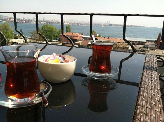 Azade Hotel: View from top floor-afternoon tea