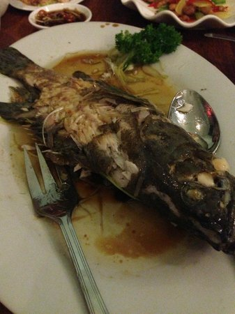 Laota: steam fish, again the suace used was too oily