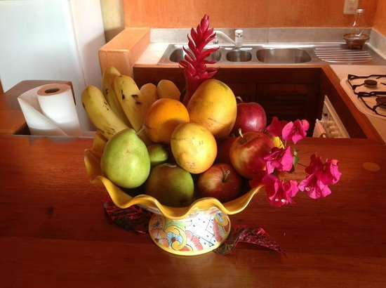 Villa Carolina Hotel: We were greeted by a nice fruit assortment