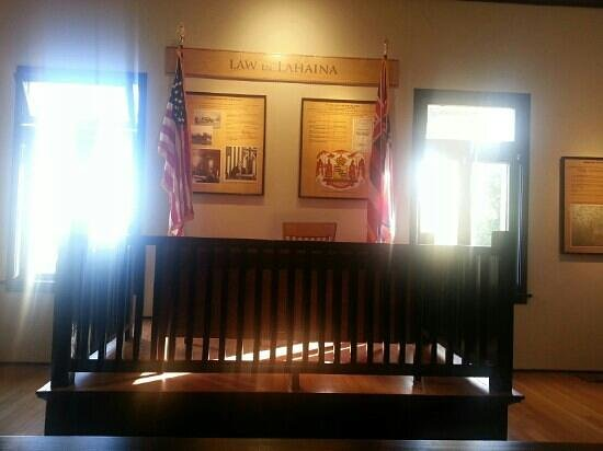 Old Lahaina Courthouse : inside the courthouse. Very nostalgic experience.