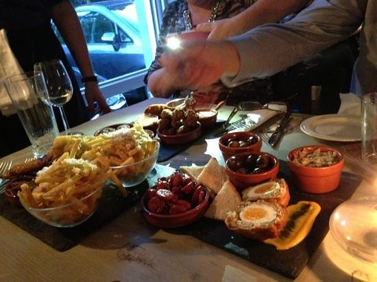 The Earlham Arms Restaurant: tapas feast