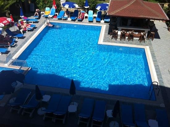 Nar Apart Hotel: Utsikt från vår balkong.