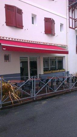 Hotel Au Bon Coin: terrasse