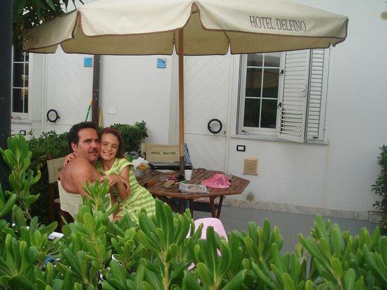 Hotel Delfino: terrasse de la chambre