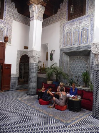 Riad d'Or: One of the interrior's courtyards