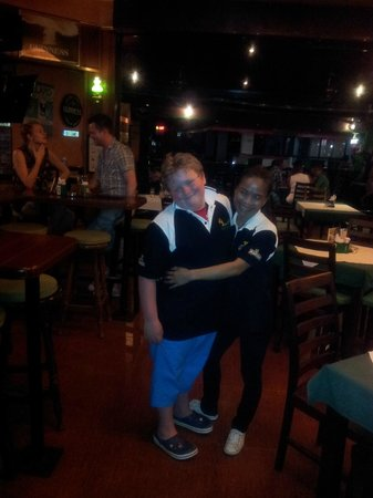Samui Shamrock : Joe and Bee modelling shamrock polo shirts!!