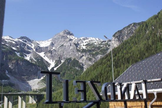Landzeit Tauernalm: View from my window to Alps