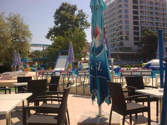 Park Hotel Golden Beach: бар на пляже