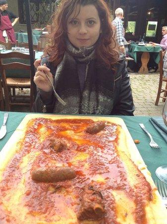 La Vecchia Quercia : La polenta servita