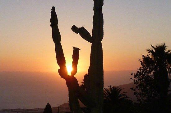 El Paso, İspanya: Solnedgang fra terrassen
