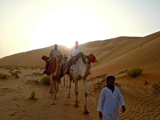 Qasr Al Sarab Desert Resort by Anantara: Sunset Camel Trek