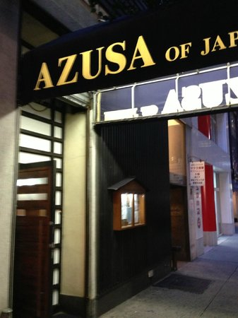 Azusa of Japan: In front of restaurant