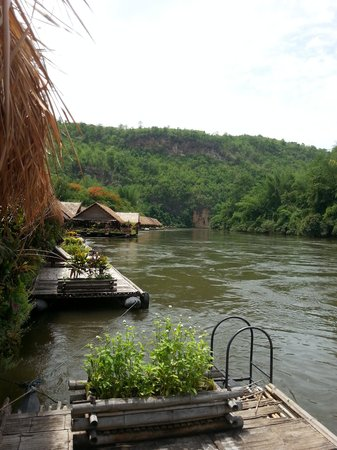 River Kwai Jungle Rafts Resort: A look from our room, number 1