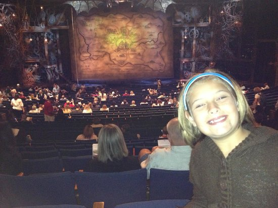 Wicked: View from the orchestra last row seats 108 and 109