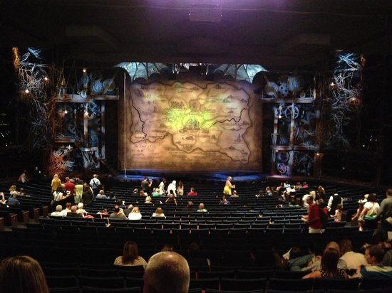 Wicked: View from seat 108 and 109 in the last row of orchestra
